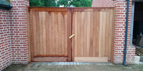 Courtyard Gates, Shalford, Precision Made Joinery, Suffolk