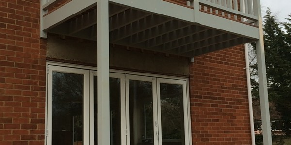 Precision Made Joinery based in Sudbury, Suffolk provide Bespoke handmade Balcony Softwood