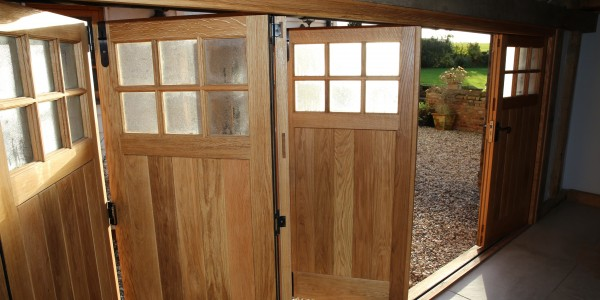 Bi-Fold Garage Doors, Precision Made Joinery, Sudbury, Suffolk
