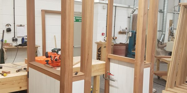 Porch in Construction, Precision Made Joinery, Acton, Sudbury, Suffolk