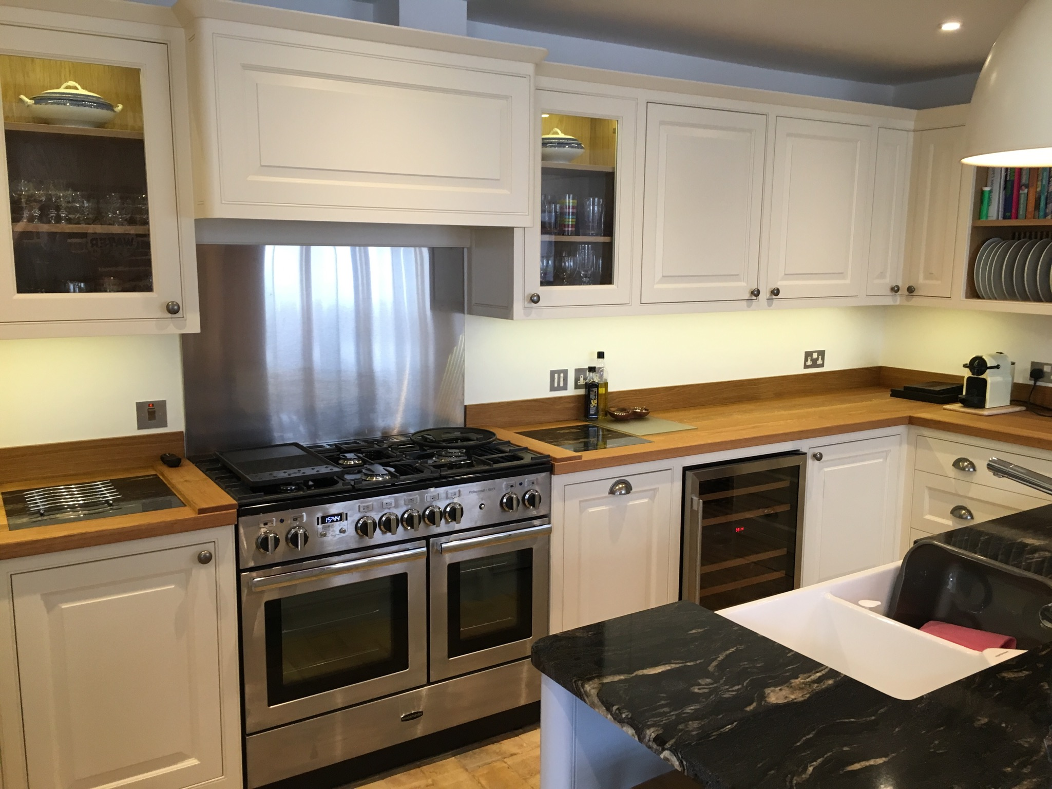 Oak Worktops with Rangemaster Cooker in Coconut House, Long Melford, Sudbury, Suffolk