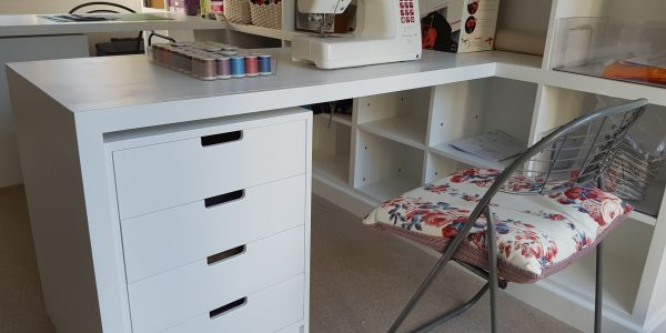 Sewing desk with storage in Long Melford, Suffolk