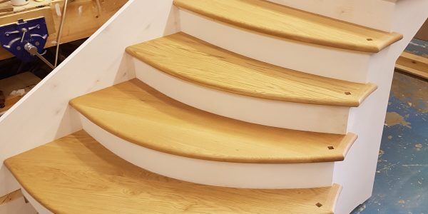 Denston Staircase in progress, Suffolk, Precision Made Joinery