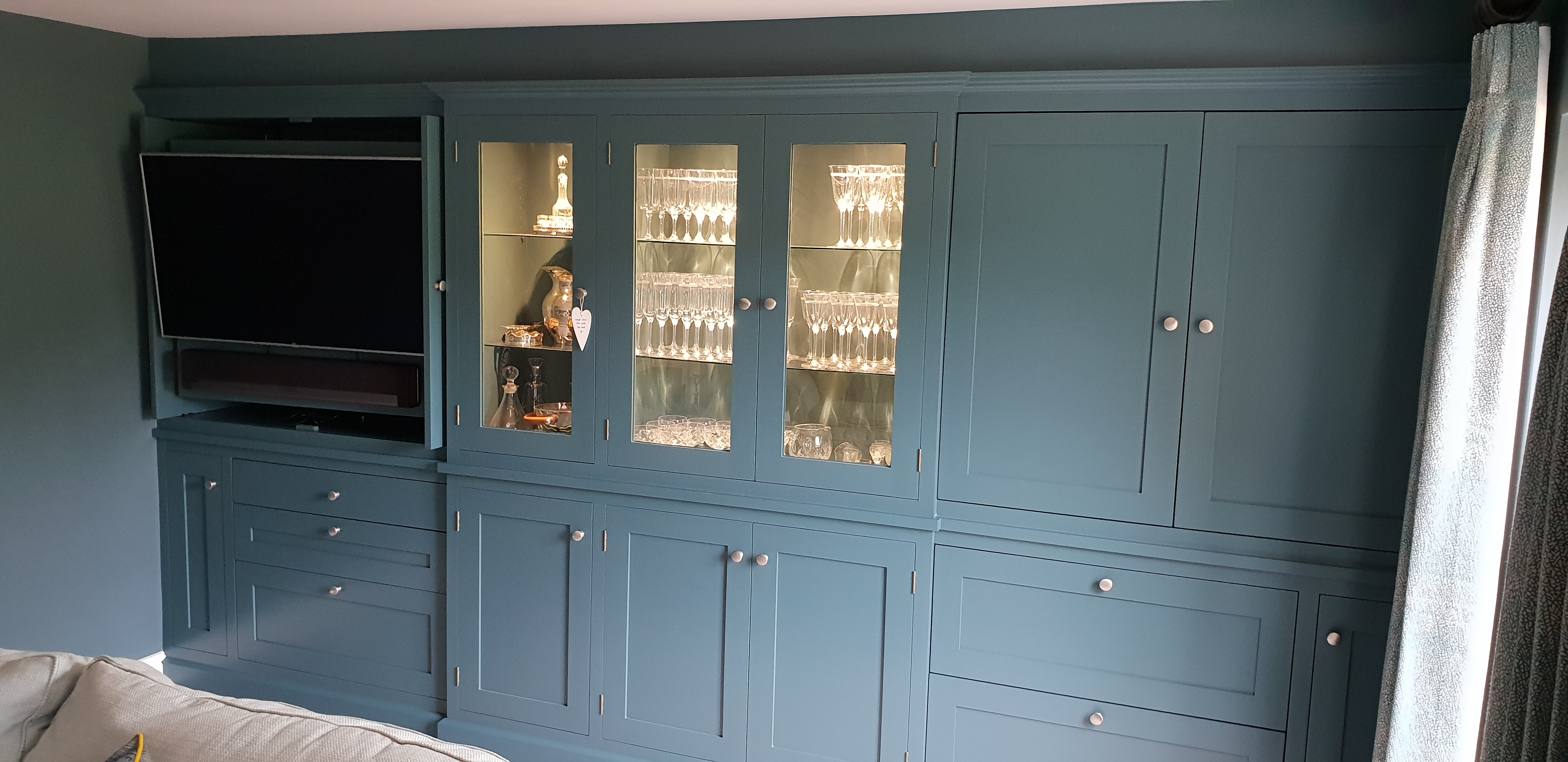 Built in Entertainment Drinks Cabinet, Precision Made Joinery, Suffolk
