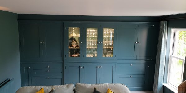 Drinks Cabinet, built in, fridge drawers, Precision Made Joinery, Suffolk