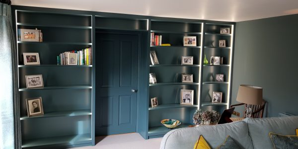 Shelving, Book Case, Lighting, Nowton, Precision Made Joinery, Suffolk