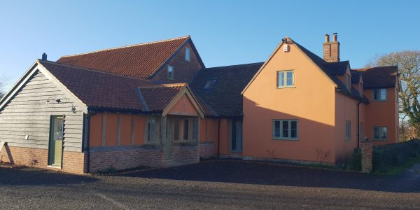 Front of Property, Windows and Doors, Milden, Precision Made Joinery, Suffolk